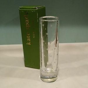 Kate Spade Larabee Dot Crystal bud vase 7.5 inches